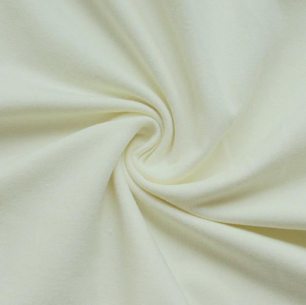 Cream Cotton Lycra Jersey Knit Fabric