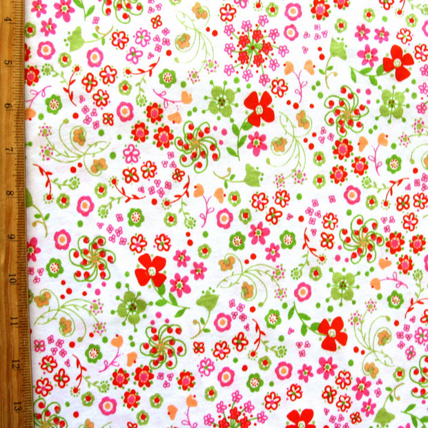 Dainty Delight Floral Cotton Lycra Knit Fabric