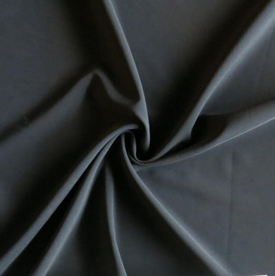 Dark Charcoal Grey Stretch Woven Fabric