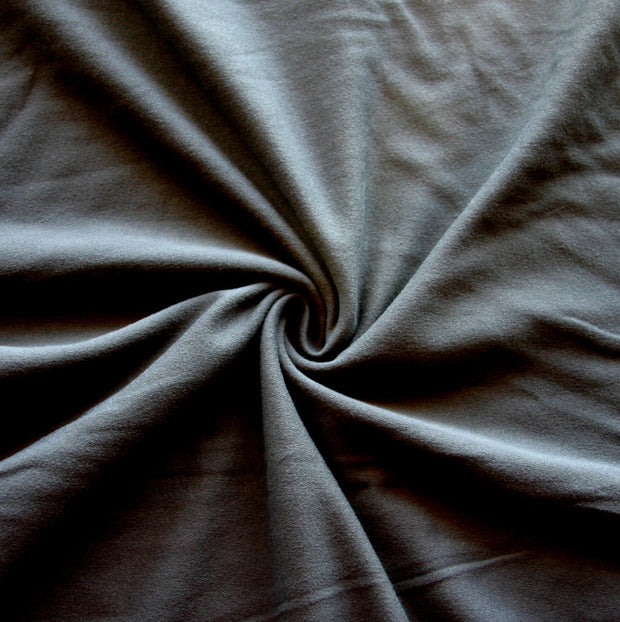 Dark Grey Cotton Lycra Jersey Knit Fabric