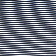 Dark Navy 3/16 and White 1/8 inch wide Stripe Nylon Spandex Swimsuit Fabric