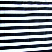 "Dark Navy and White 1/2"" Stripe Nylon Lycra Swimsuit Fabric"
