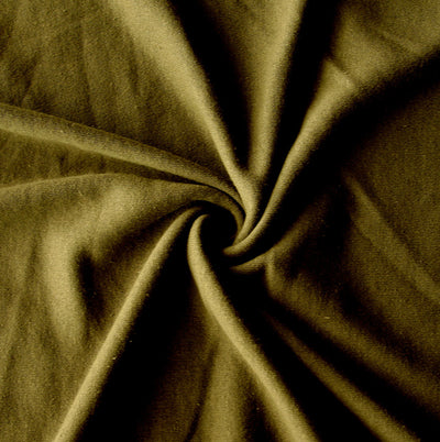 Dark Olive Green Cotton Interlock Fabric