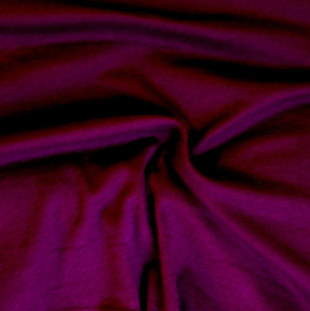 Dark Purple Cotton Rib Knit Fabric