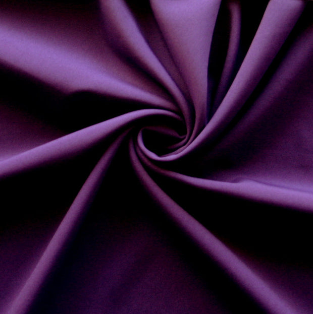 Dark Purple Stretch Woven Fabric