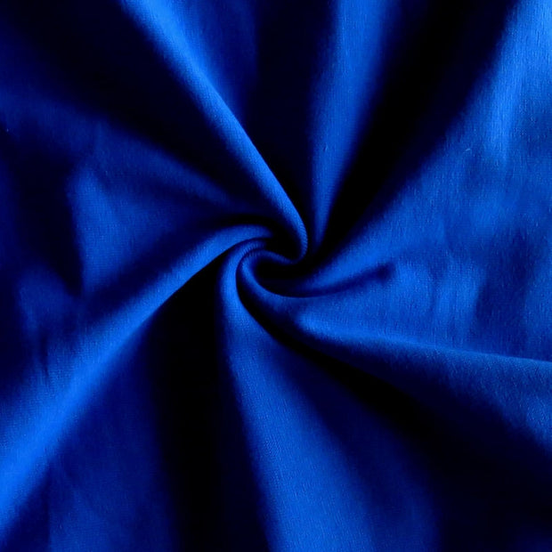 Dark Royal Blue Cotton Heavy Rib Knit Fabric