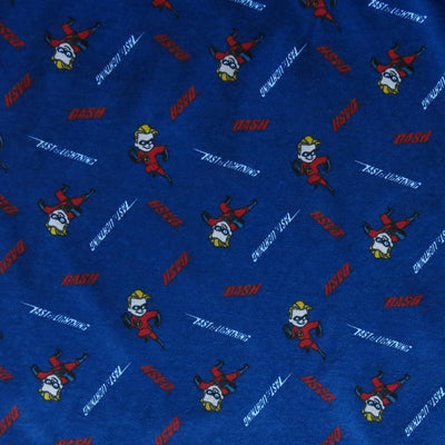 Dashing Superhero Kid Cotton Knit Fabric