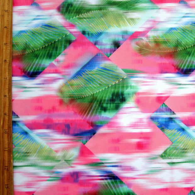 Diamond Palm Nylon Spandex Swimsuit Fabric