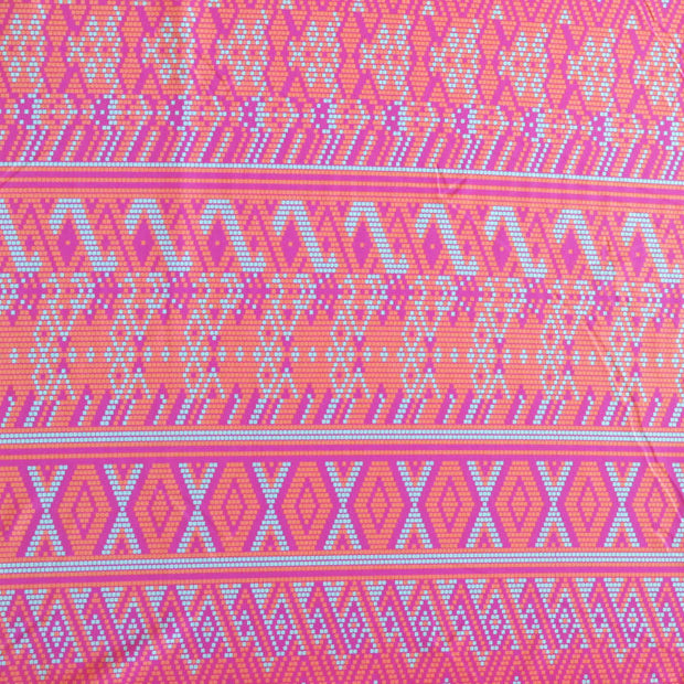Digital Ethnic Nylon Spandex Swimsuit Fabric