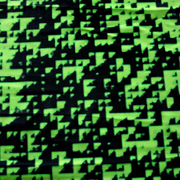 Digitize Nylon Lycra Swimsuit Fabric, Lime Colorway