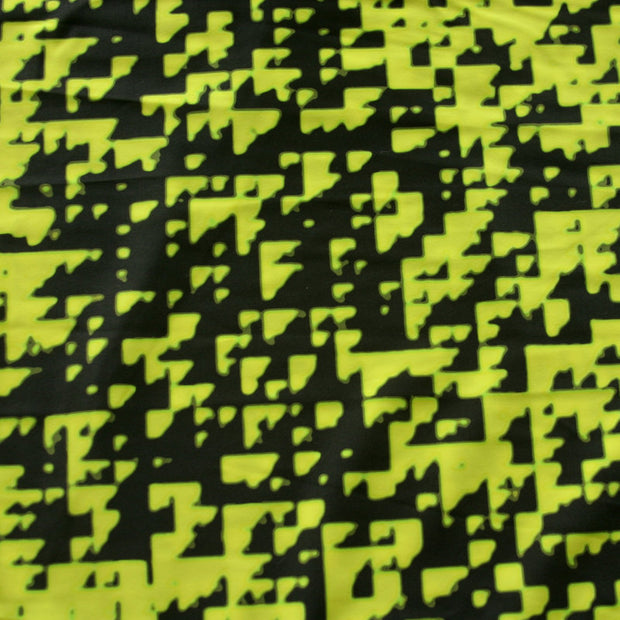 Digitize Nylon Lycra Swimsuit Fabric, Yellow Colorway