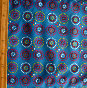 Dotty Circles PUL Knit Fabric, Blue Colorway