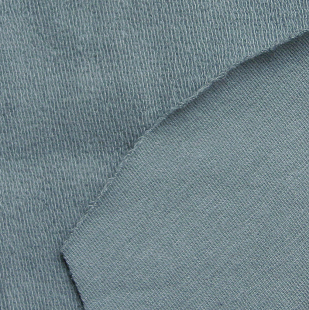 Dove Grey Organic Cotton French Terry Fabric