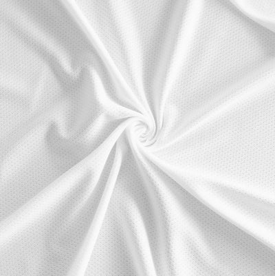 White Dri-Fit Poly Knit Lining Fabric