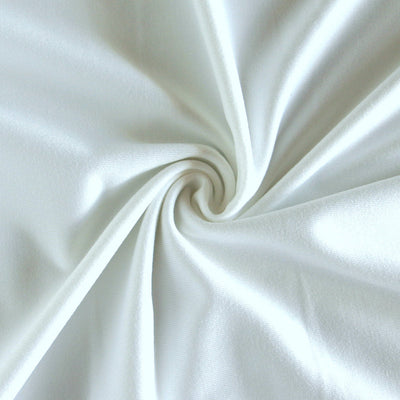 White Dri-Fit Stretch Series Midweight Lycra Jersey Knit Fabric