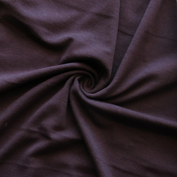Eggplant Bamboo Lycra Jersey Knit Fabric
