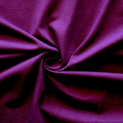Eggplant 10 oz. Cotton Lycra Jersey Knit Fabric