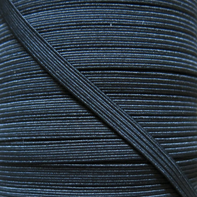 "1/4"" Wide Black Classic Braided Elastic Trim"