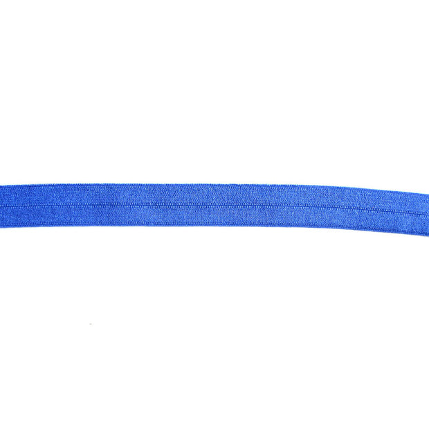 Electric Blue Fold-Over Elastic Trim