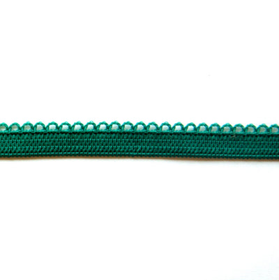 Emerald Green Picot Decorative Elastic Trim