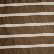 Espresso and Heathered Grey Stripe Bamboo Lycra Knit Fabric