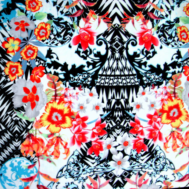Exotic Floral Nylon Lycra Swimsuit Fabric