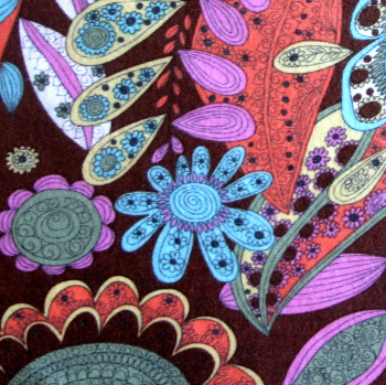 Fall Floral Paisley Cotton Modal Knit Fabric by Baby Nay