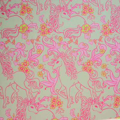 Fantastical Unicorns Nylon Lycra Swimsuit Fabric