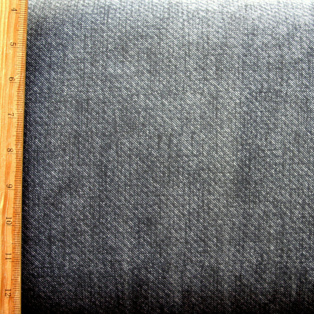 Faux Denim Nylon Lycra Swimsuit Fabric, Dark Blue Colorway