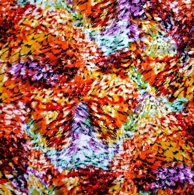 Colorful Feathers Nylon Spandex Swimsuit Fabric