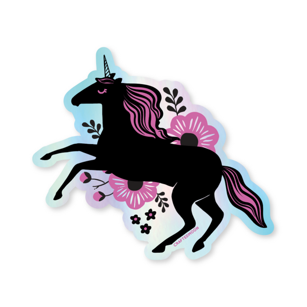 Holographic Unicorn Sticker by CraftedMoon