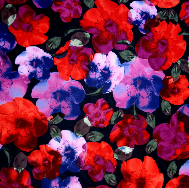 Field of Poppies Nylon Spandex Swimsuit Fabric