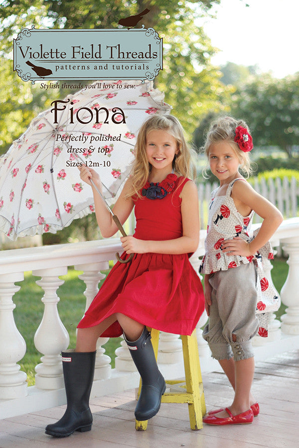 Fiona Dress & Top Boutique Sewing Pattern by Violette Field Threads
