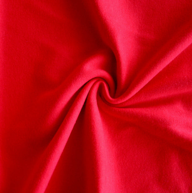 Red Cotton Interlock Knit Fabric