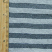 Flint and Grey Stripe Hemp Organic Cotton Knit Fabric