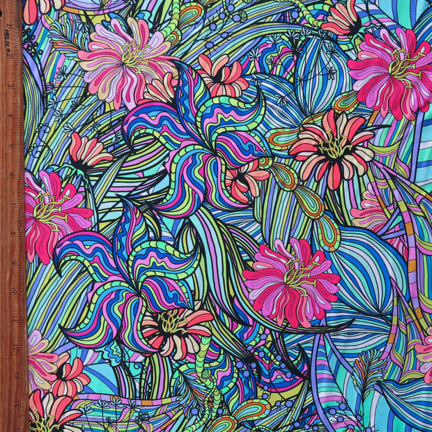Flower Power Nylon Spandex Swimsuit Fabric