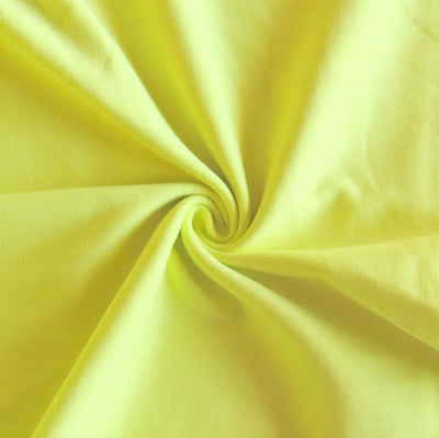 Fluorescent Yellow Cotton Heavy Rib Knit Fabric