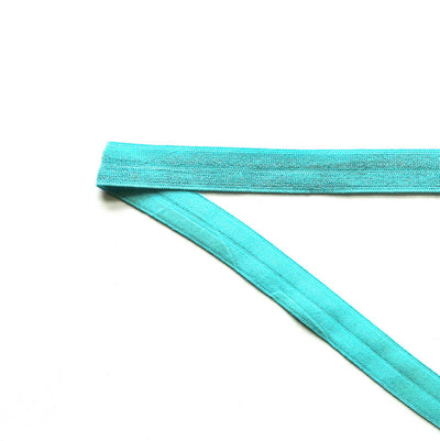 Amazing Aqua Fold Over Elastic Trim