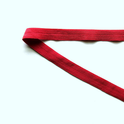Dark Red Fold Over Elastic Trim