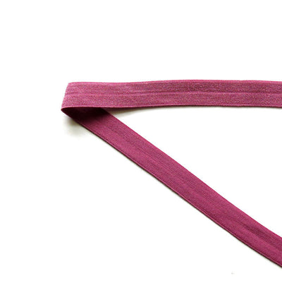 Pretty Plum Fold Over Elastic Trim