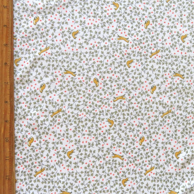 Foxy Floral Cotton Lycra Knit Fabric