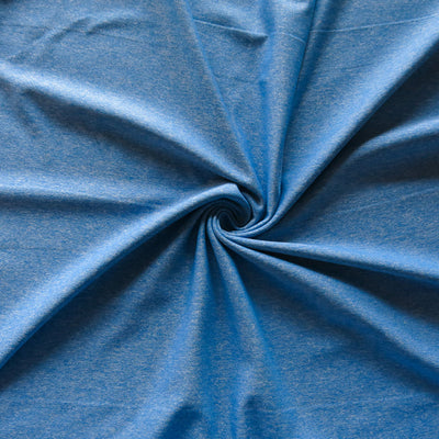 French Blue Marl Nylon Poly Spandex Knit Fabric