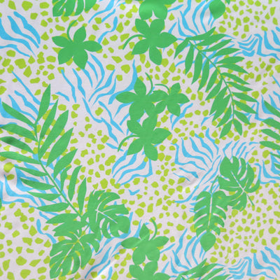 Fronds and Foliage Nylon Spandex Swimsuit Fabric