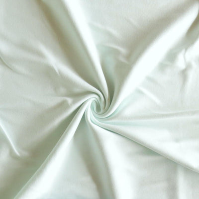 Frosty Mint Cotton Interlock Fabric