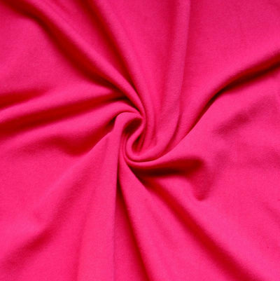 Bright Pink Cotton Lycra Jersey Knit Fabric