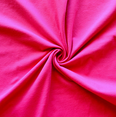 Fuschia Cotton Jersey Knit Fabric