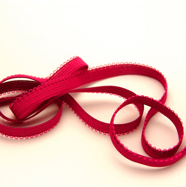 Fuschia Picot Decorative Elastic Trim