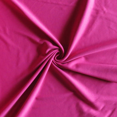 Fuchsia Pink Cotton Interlock Fabric