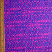 Fuschia Royal Chevron Tribal Stripe Nylon Lycra Swimsuit Fabric