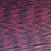 Fuchsia/Charcoal Space Dye Poly Lycra Jersey Knit Fabric